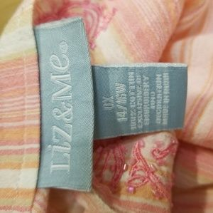Liz & Me Tops - 14/16 Liz & Me 3/4 Sleeve Cotton Embroidered Top
